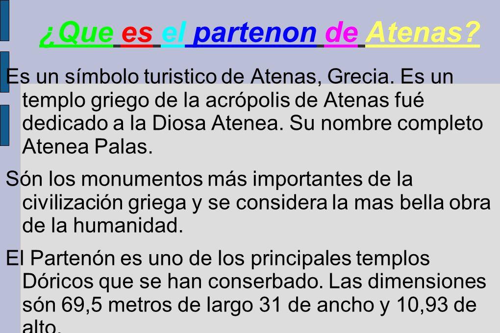 ¿Que es el partenon de Atenas