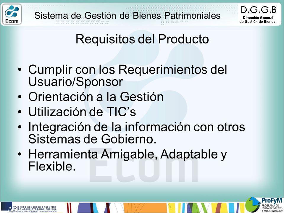 Requisitos del Producto