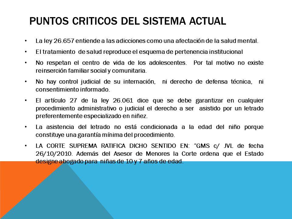 PUNTOS CRITICOS DEL SISTEMA ACTUAL