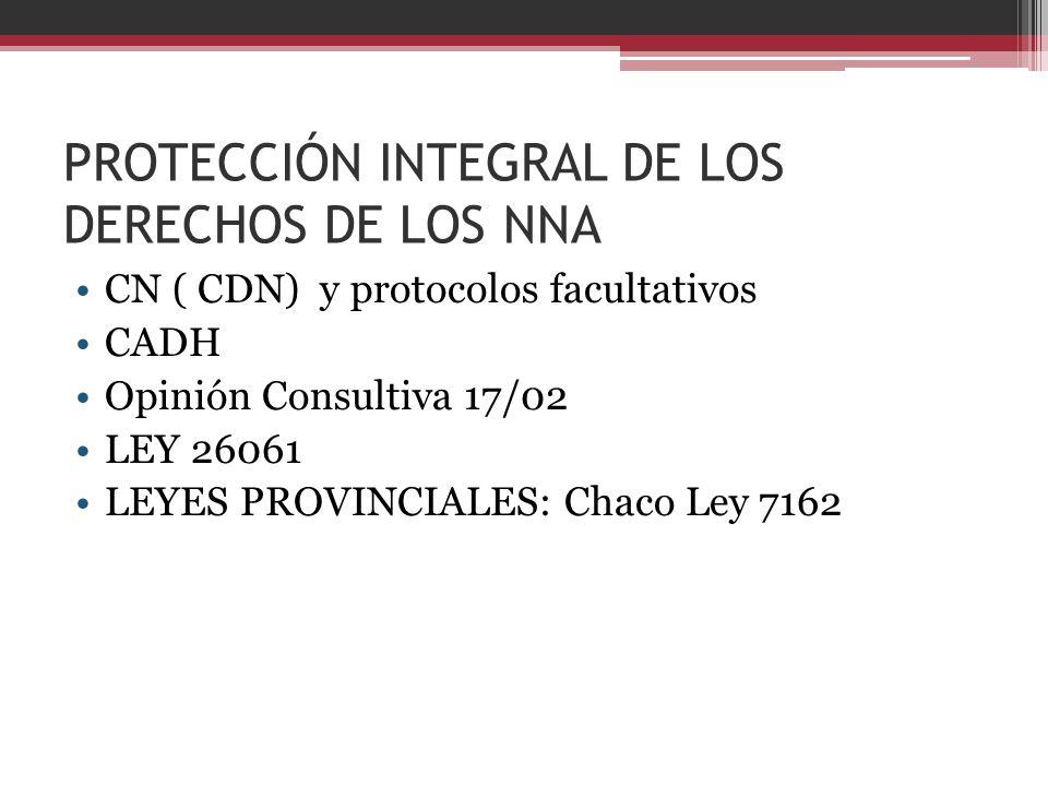 PROTECCIÓN INTEGRAL DE LOS DERECHOS DE LOS NNA
