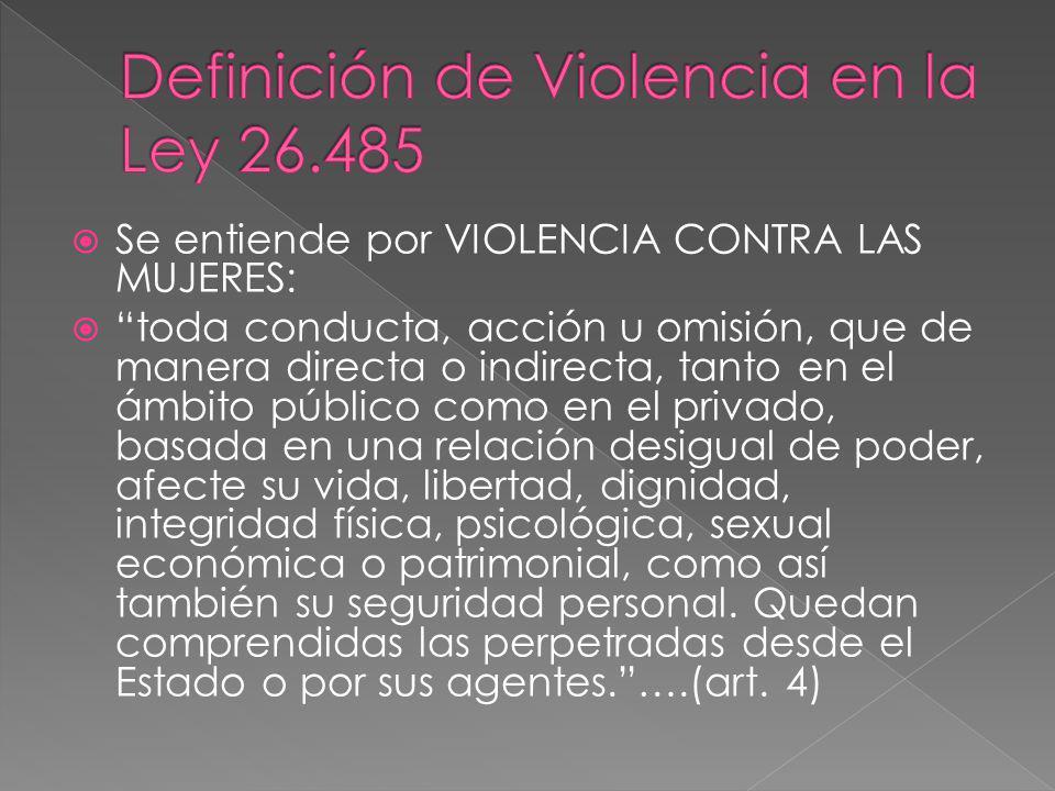 Definición de Violencia en la Ley 26.485