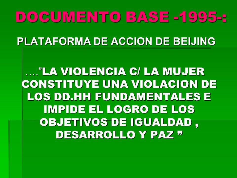 PLATAFORMA DE ACCION DE BEIJING