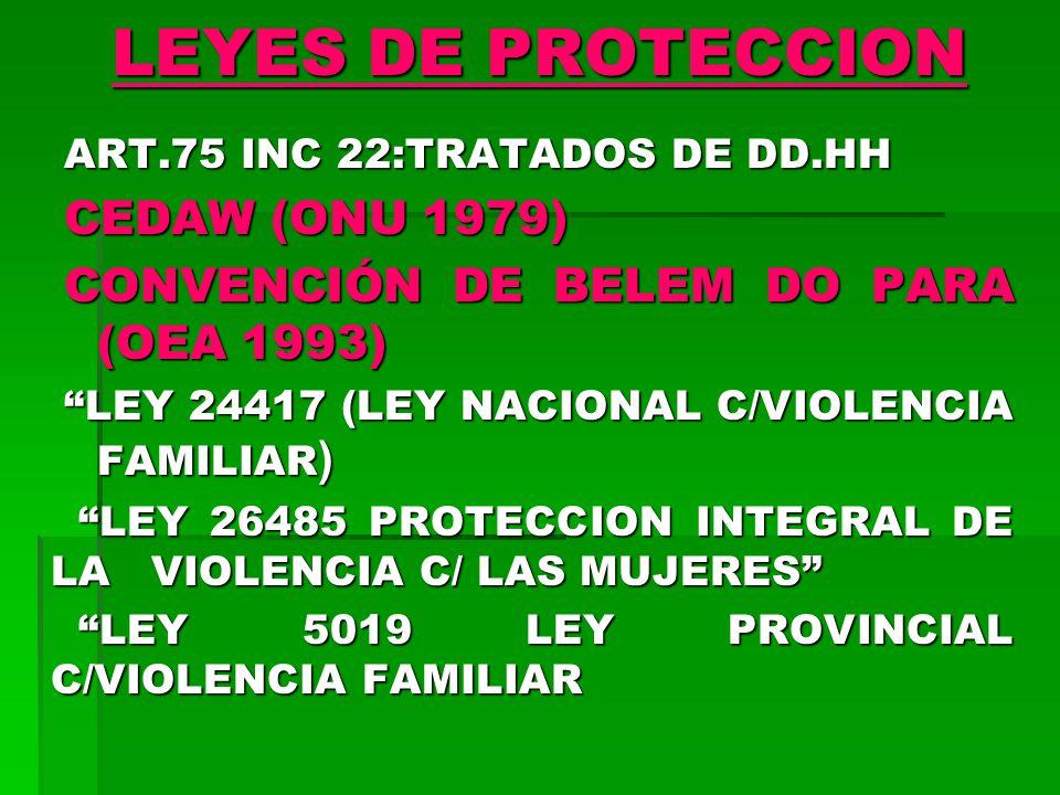 LEYES DE PROTECCION CEDAW (ONU 1979)
