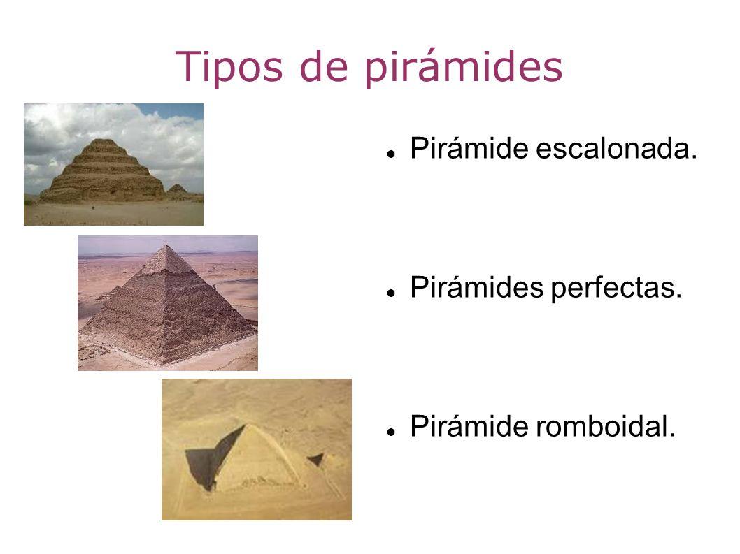Tipos de pirámides Pirámide escalonada. Pirámides perfectas.