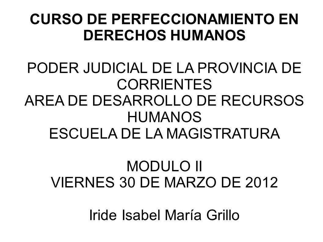 CURSO DE PERFECCIONAMIENTO EN DERECHOS HUMANOS