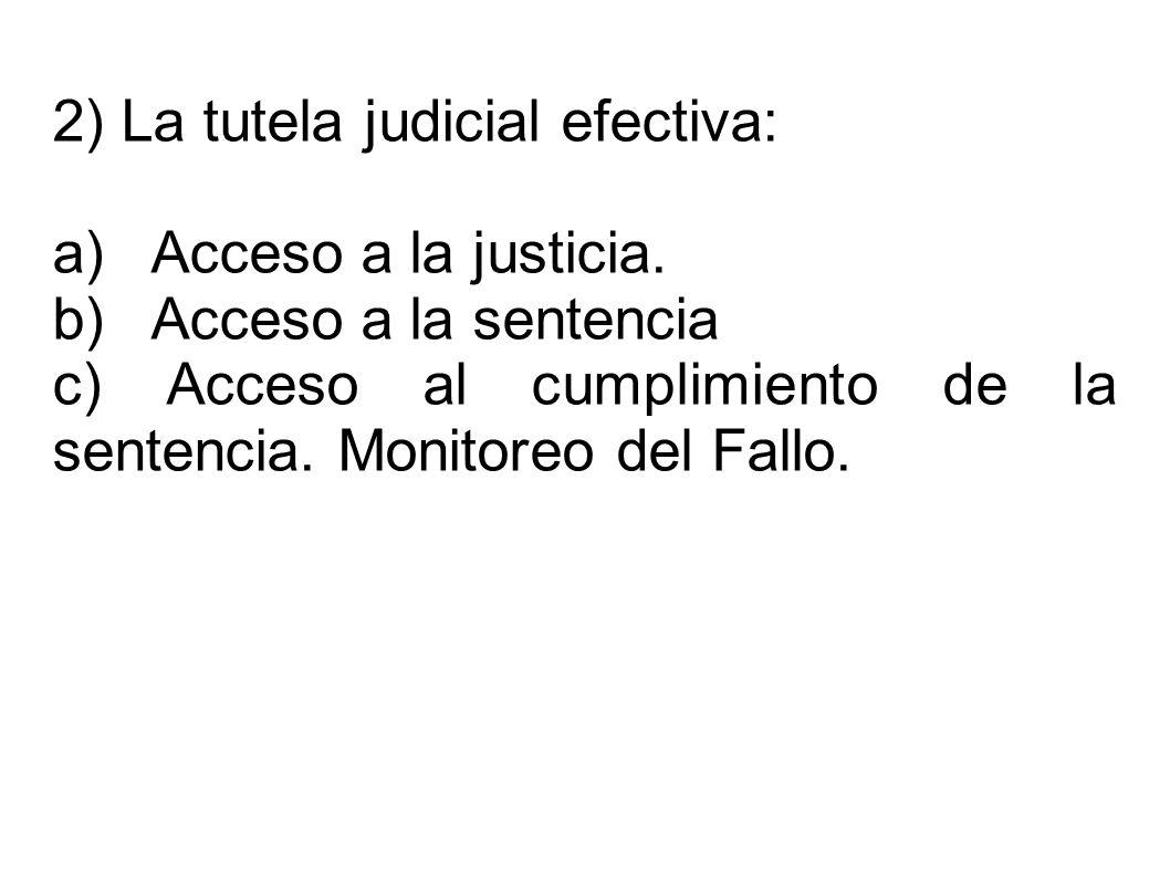 2) La tutela judicial efectiva: