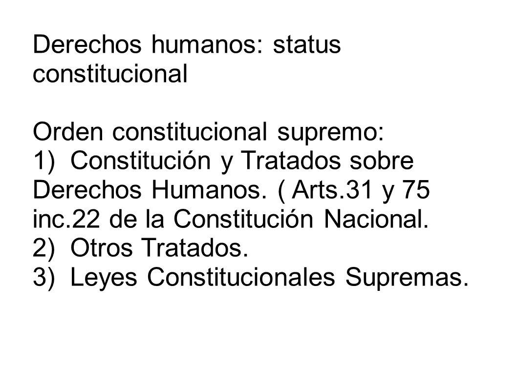 Derechos humanos: status constitucional