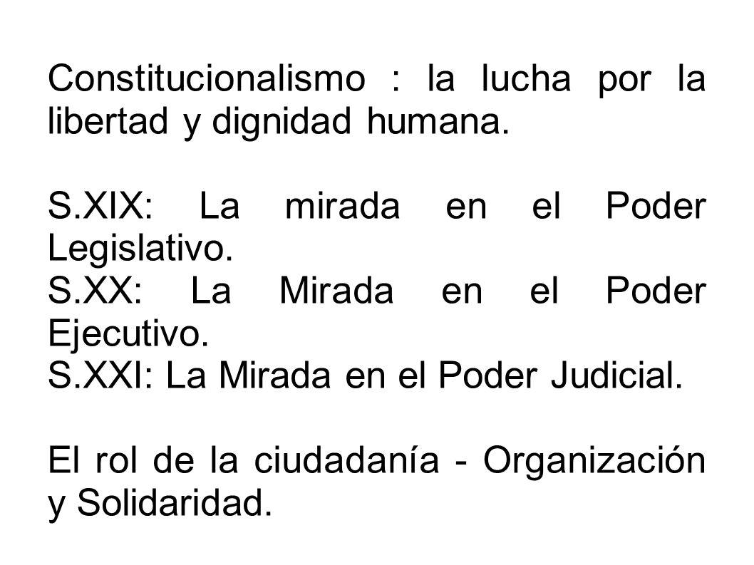 Constitucionalismo : la lucha por la libertad y dignidad humana.