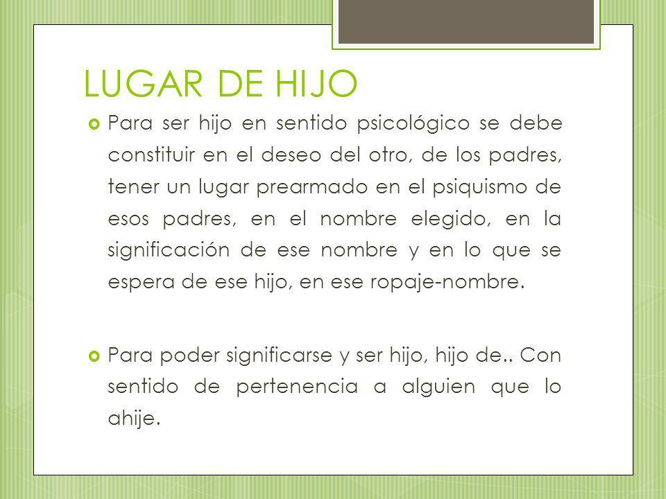LUGAR DE HIJO