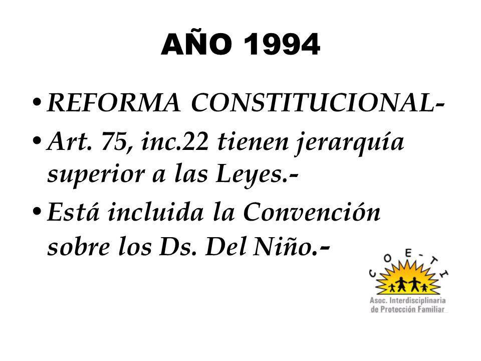AÑO 1994 REFORMA CONSTITUCIONAL-