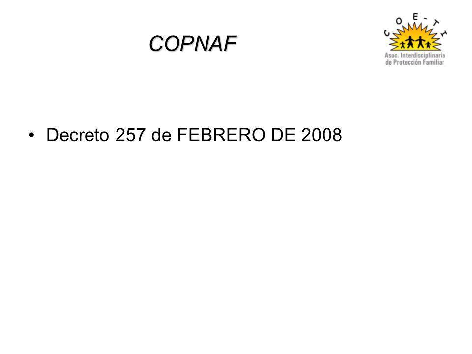 COPNAF Decreto 257 de FEBRERO DE 2008