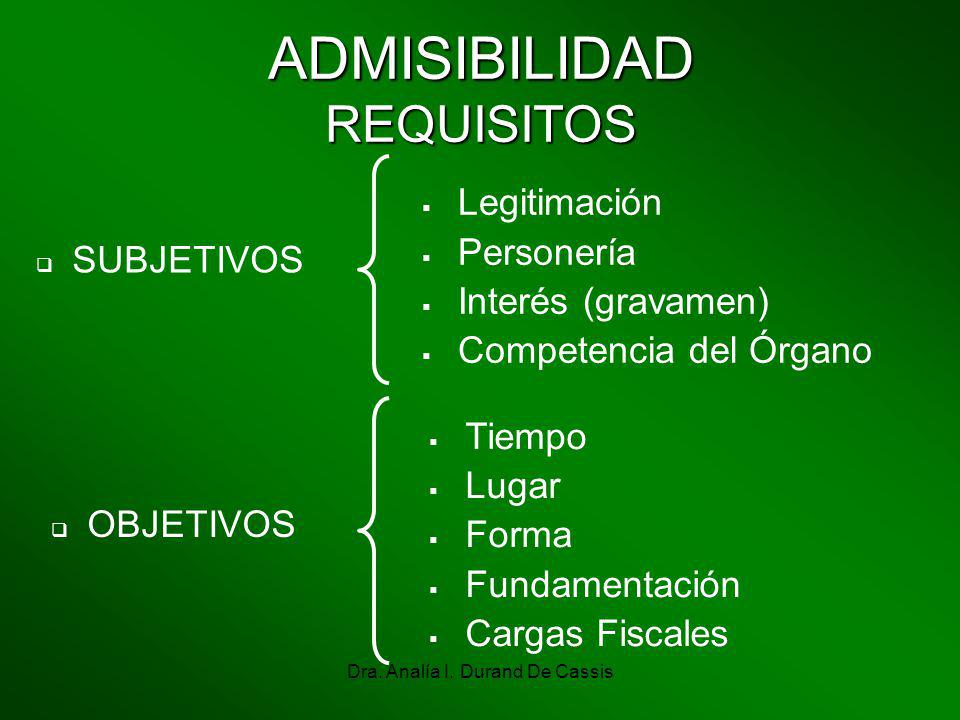ADMISIBILIDAD REQUISITOS