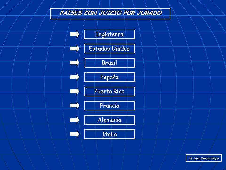 PAISES CON JUICIO POR JURADO