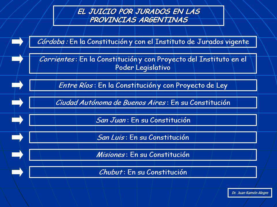 EL JUICIO POR JURADOS EN LAS PROVINCIAS ARGENTINAS