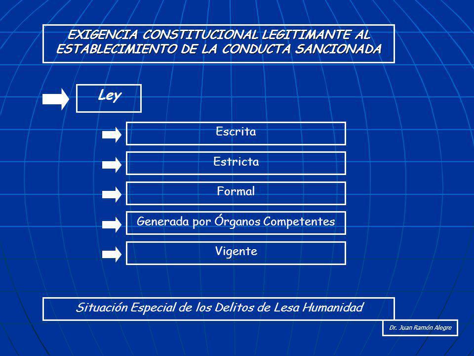 EXIGENCIA CONSTITUCIONAL LEGITIMANTE AL ESTABLECIMIENTO DE LA CONDUCTA SANCIONADA