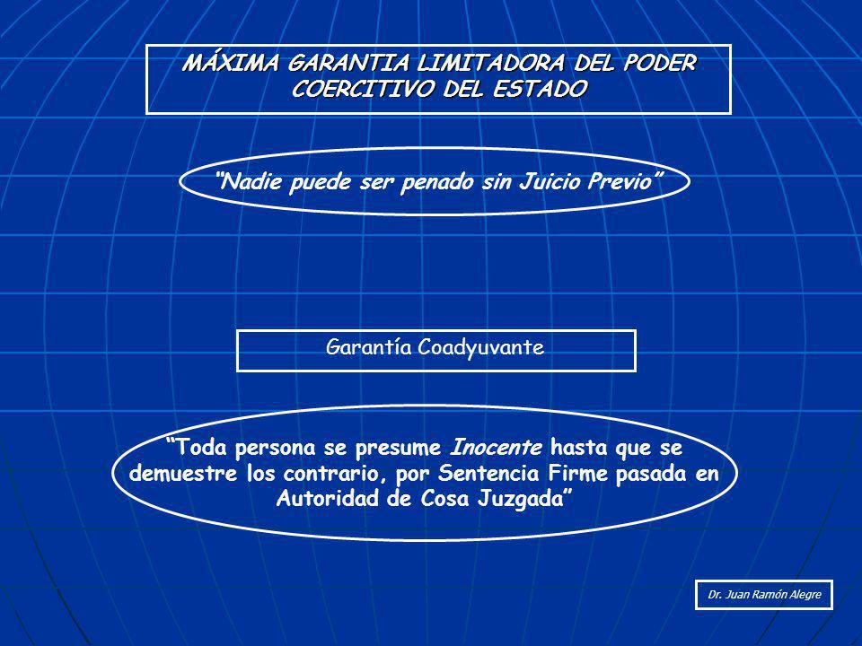 MÁXIMA GARANTIA LIMITADORA DEL PODER COERCITIVO DEL ESTADO