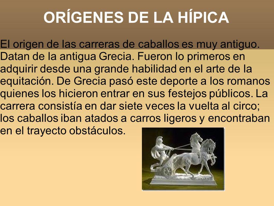 ORÍGENES DE LA HÍPICA