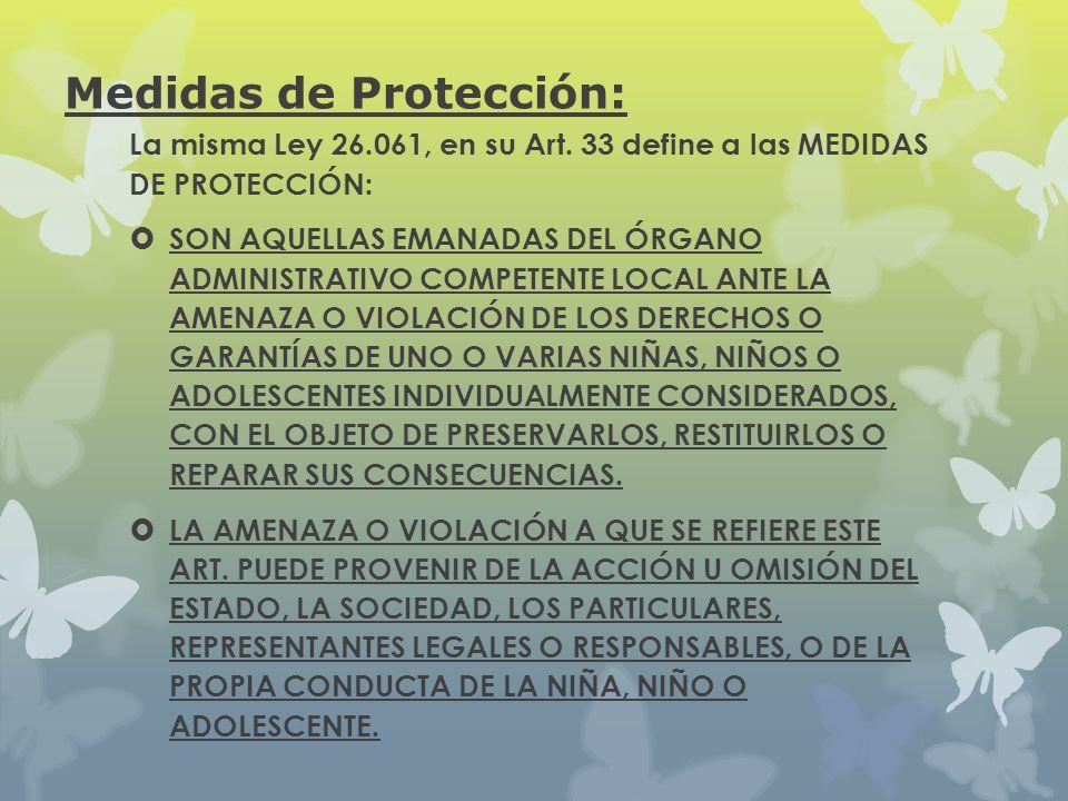 Medidas de Protección: