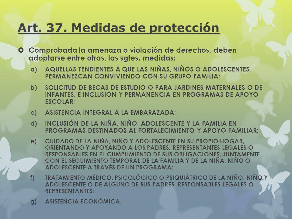 Art. 37. Medidas de protección