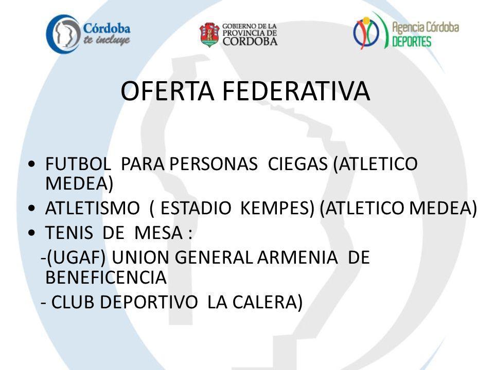 OFERTA FEDERATIVA FUTBOL PARA PERSONAS CIEGAS (ATLETICO MEDEA)