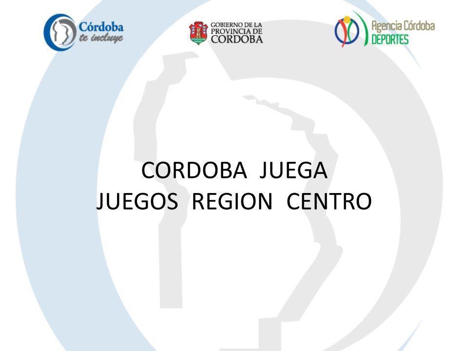 CORDOBA JUEGA JUEGOS REGION CENTRO