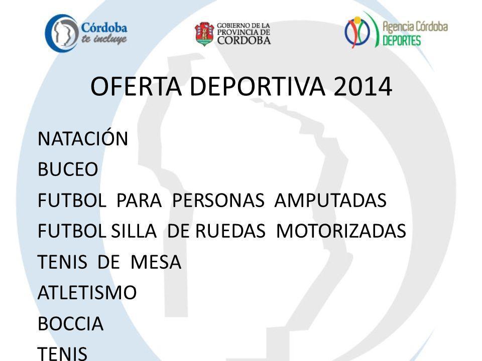 OFERTA DEPORTIVA 2014 NATACIÓN BUCEO FUTBOL PARA PERSONAS AMPUTADAS