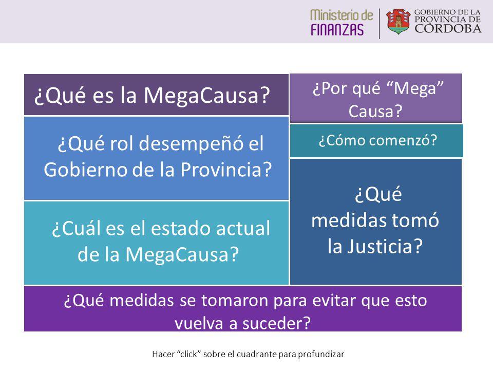 ¿Qué es la MegaCausa ¿Qué rol desempeñó el Gobierno de la Provincia