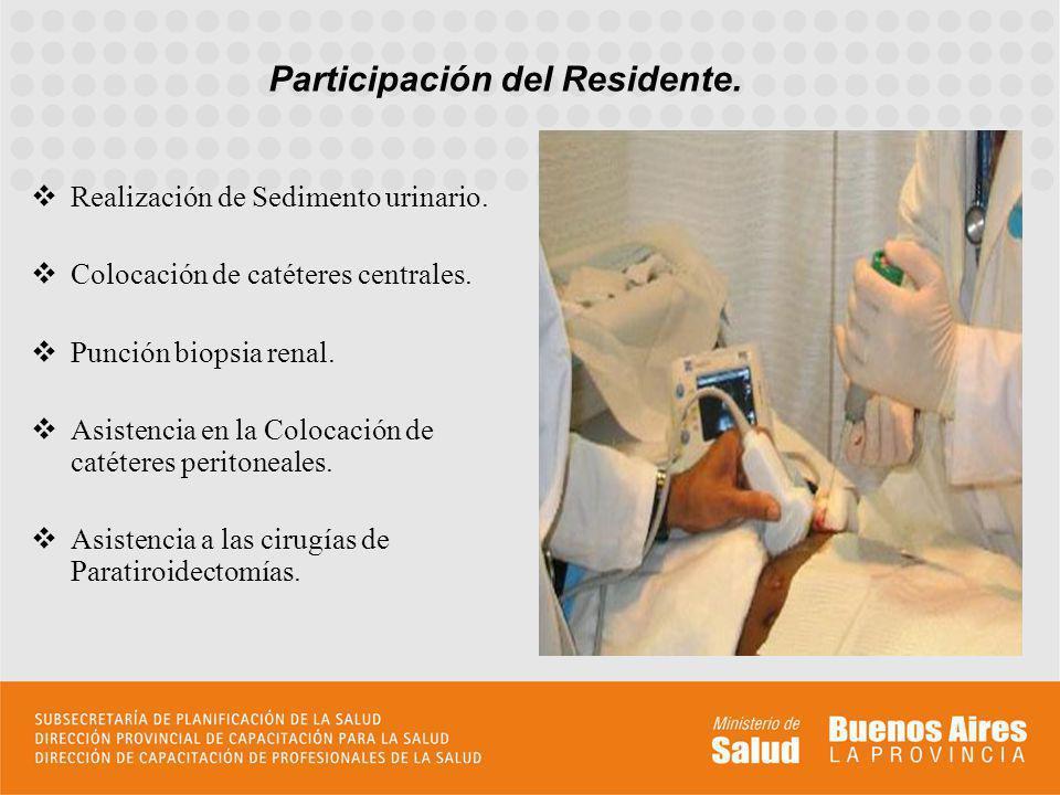 Participación del Residente.