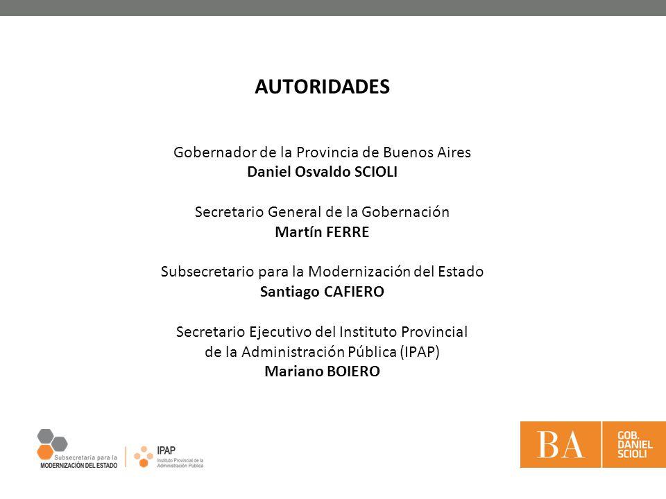 AUTORIDADES Gobernador de la Provincia de Buenos Aires