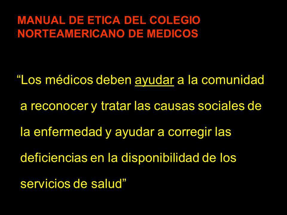 MANUAL DE ETICA DEL COLEGIO NORTEAMERICANO DE MEDICOS