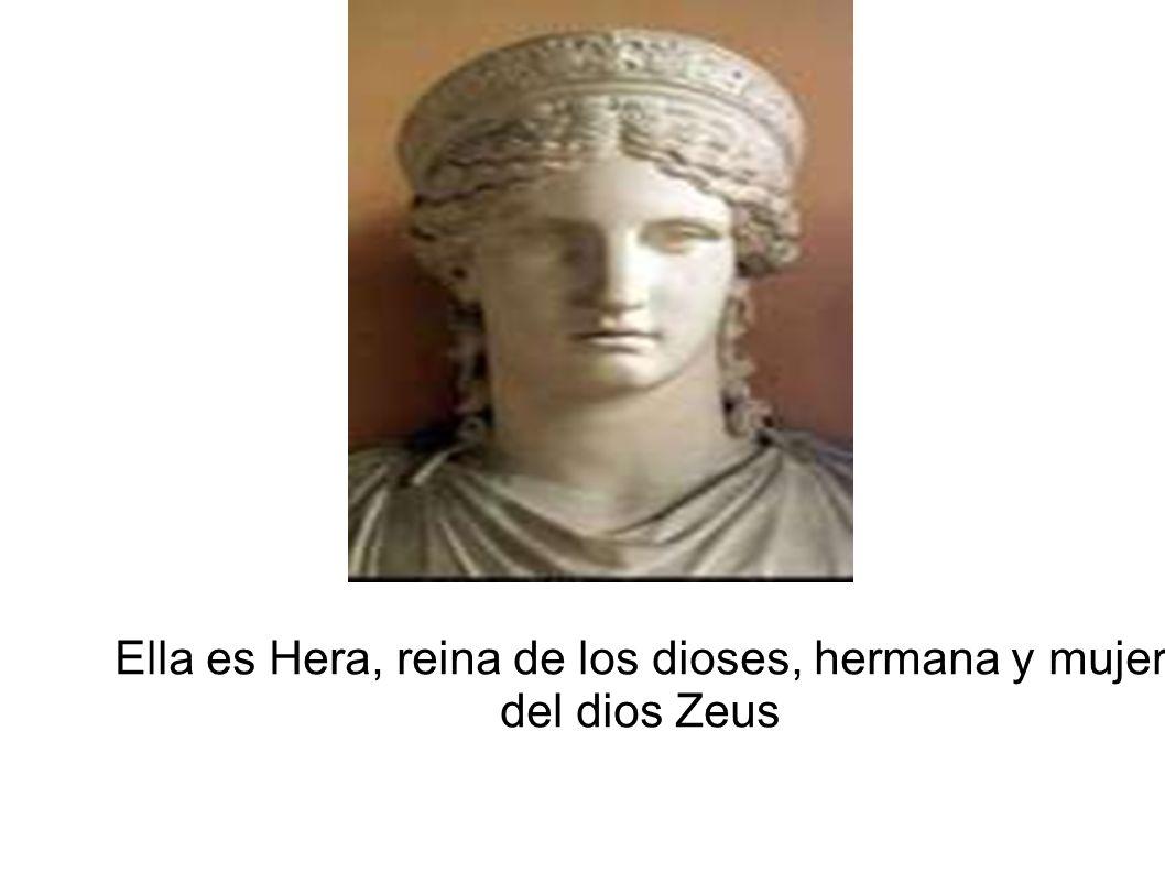 Ella es Hera, reina de los dioses, hermana y mujer del dios Zeus