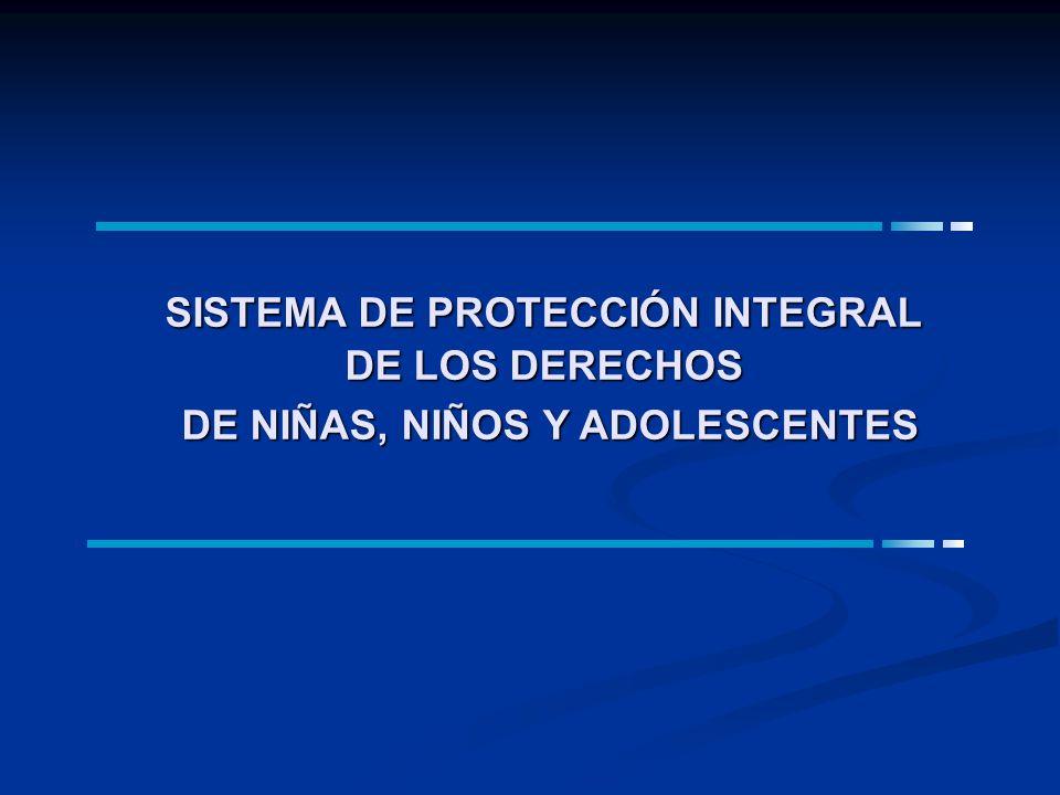 SISTEMA DE PROTECCIÓN INTEGRAL DE NIÑAS, NIÑOS Y ADOLESCENTES