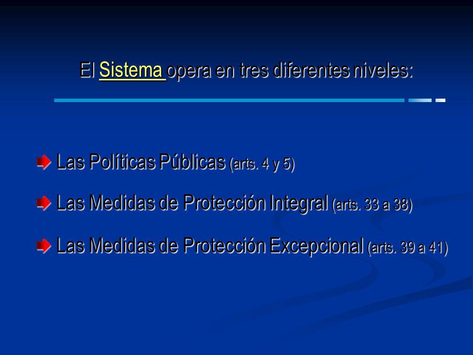El Sistema opera en tres diferentes niveles: