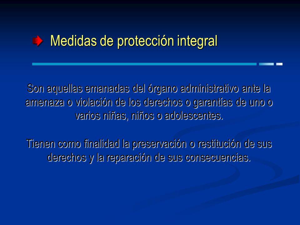 Medidas de protección integral
