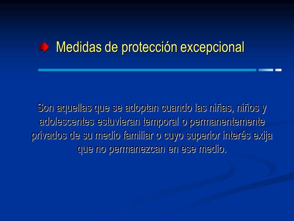 Medidas de protección excepcional