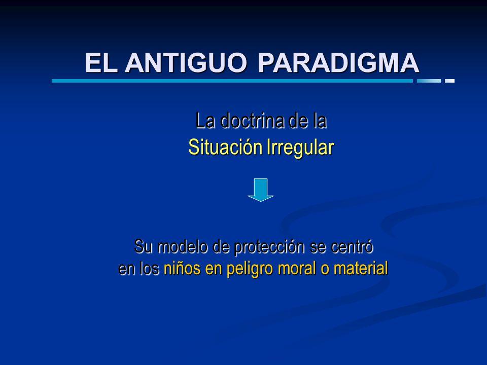EL ANTIGUO PARADIGMA La doctrina de la Situación Irregular