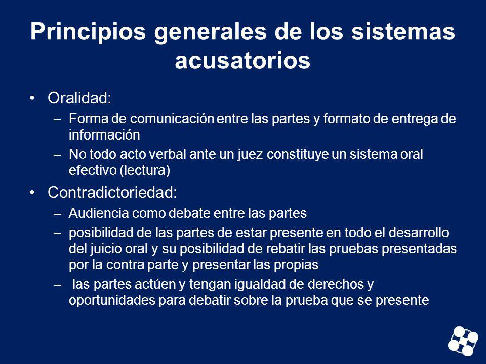 Principios generales de los sistemas acusatorios