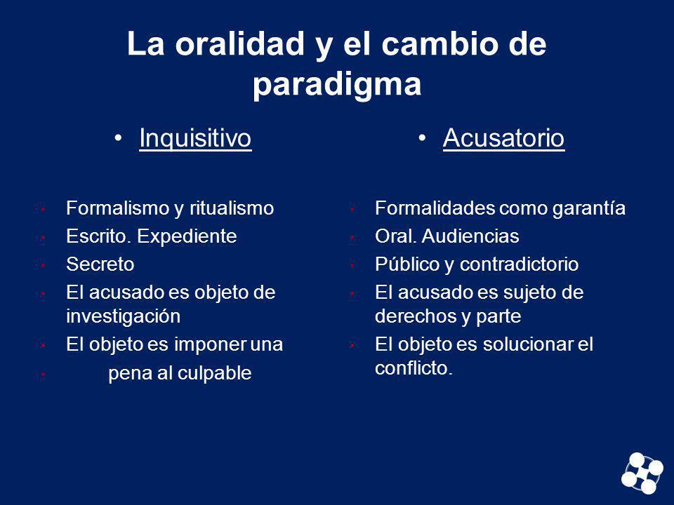 La oralidad y el cambio de paradigma
