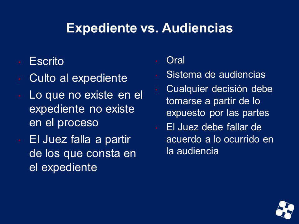 Expediente vs. Audiencias