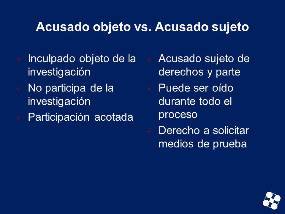 Acusado objeto vs. Acusado sujeto