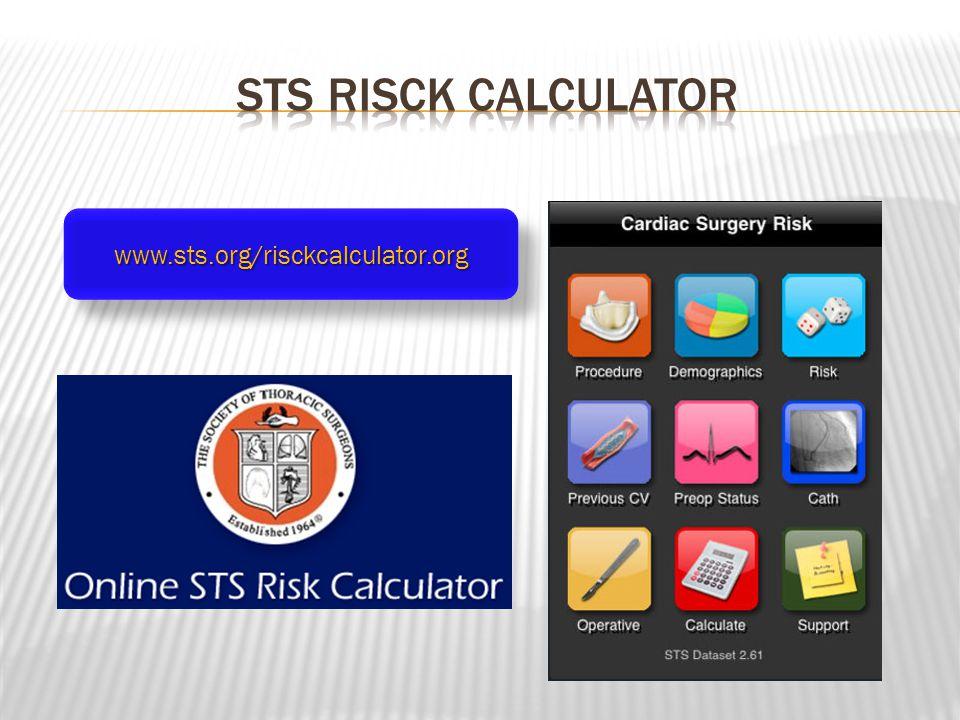Sts risck calculator www.sts.org/risckcalculator.org