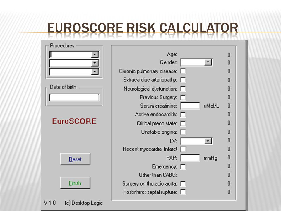 EUROSCORE RISK CALCULATOR