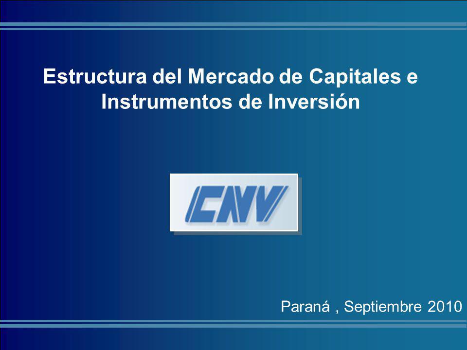 Estructura del Mercado de Capitales e