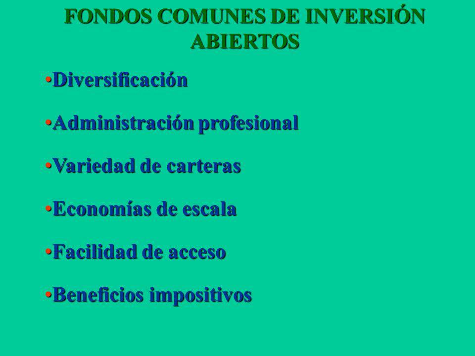 FONDOS COMUNES DE INVERSIÓN
