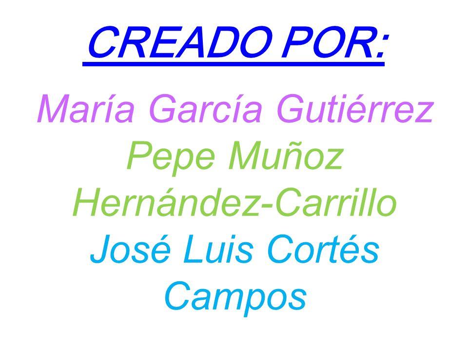 CREADO POR: María García Gutiérrez Pepe Muñoz Hernández-Carrillo