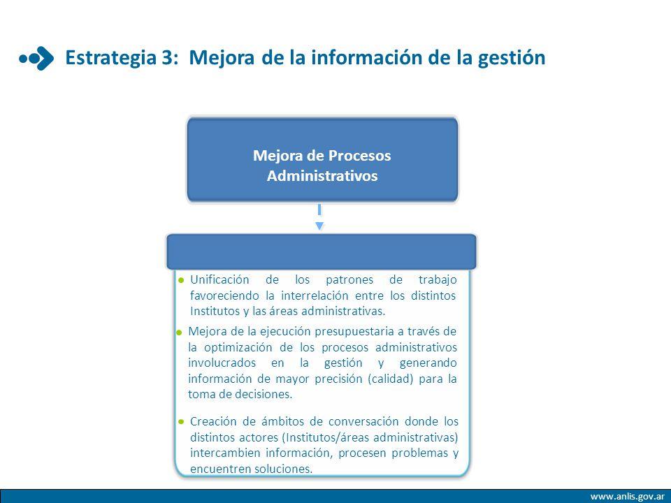 Estrategia 3: Mejora de la información de la gestión