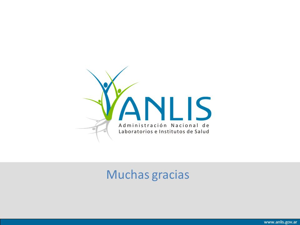 Muchas gracias www.anlis.gov.ar