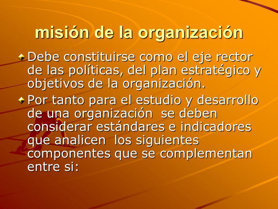misión de la organización