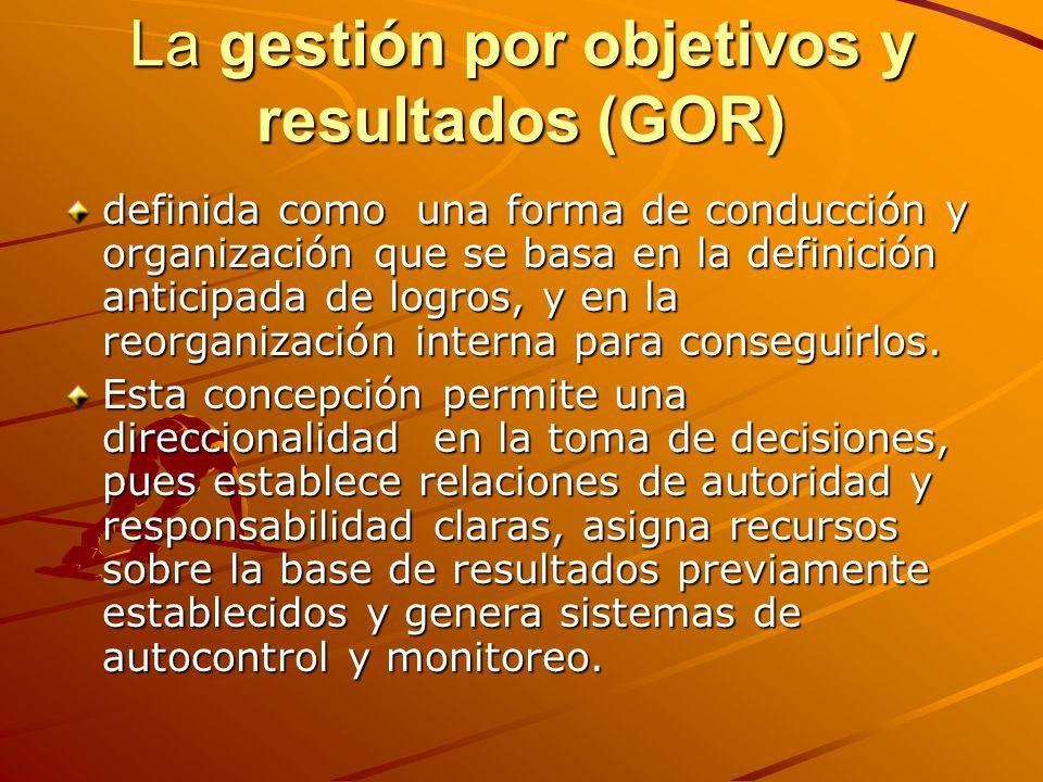 La gestión por objetivos y resultados (GOR)
