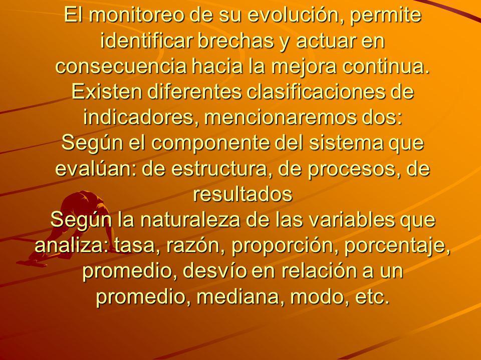 El monitoreo de su evolución, permite identificar brechas y actuar en consecuencia hacia la mejora continua.